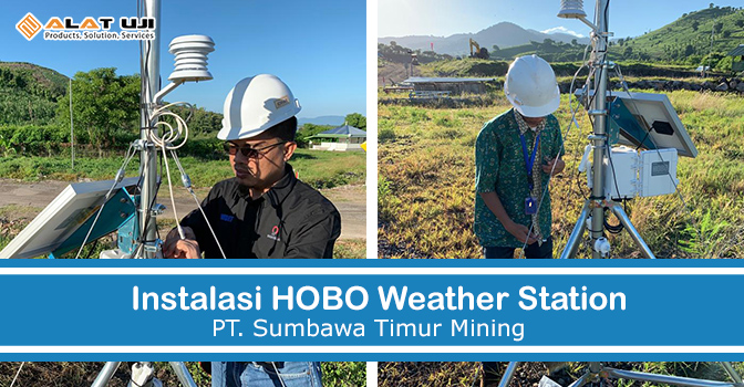 Instalasi Weather Station PT Sumbawa Timur Mining
